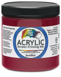 Speedball Permanent Acrylic Screen Printing Poster Ink - Process Magenta, 8 oz