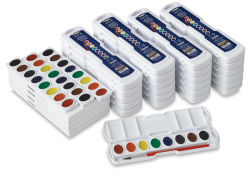 Prang Semi-Moist Watercolor Pans - Master Class Pack, Assorted Colors, Oval