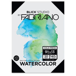 Blick Studio Watercolor Papers - Cold Press, 9-1/2'' x 13'', 20 Sheets