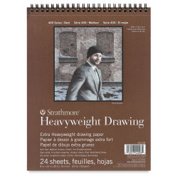 Strathmore Heavyweight Drawing Pad - 8'' x 10'', 24 Sheets, 100 lb (163 gsm).