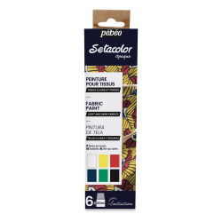 Pebeo Setacolor Fabric Paint - Opaque Assorted Colors, Set of 6