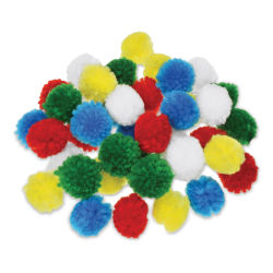 "Krafty Kids Yarn Pom Poms - Primary, 1"", Package of 40"