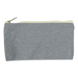 Harvest Import Recycled Canvas Zipper Pouch - 5''L × 9¼''W