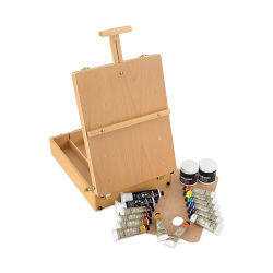 Blick Artists' Acrylic Set - Easel Set, Natural