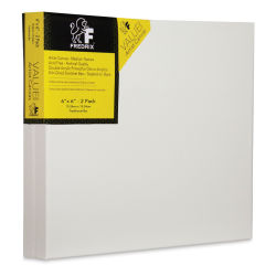 Fredrix Value Series Stretched Canvas - 6'' x 6'', Pkg of 2, Back Stapled