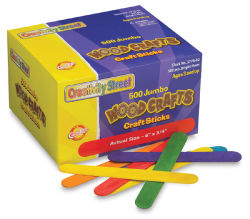 Jumbo Craftsticks-Colored Box of 500  Outside of Package