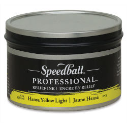 Speedball Professional Relief Ink - Hansa Yellow Light, 8 oz