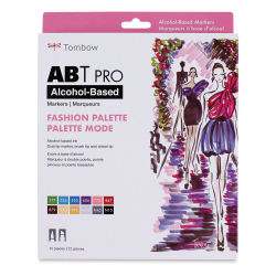 Tombow ABT Pro Alcohol Markers - Fashion Colors, Set of 12