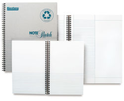 Bienfang Notesketch Pad - 8-1/2'' x 5-1/2'', Horizontal, 64 Sheet