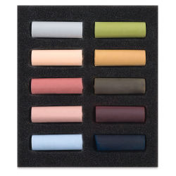 Set of 10, Muted Colors, Half-Sticks