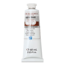 Charbonnel Aqua Wash Etching Ink - Raw Sepia, 60 ml
