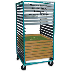 Rolling Screen Racker - 20 Shelves, Rack, 15'' to 46''