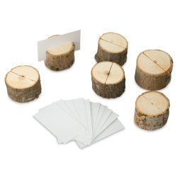 Creative Co-Op Wood Place Holder Set