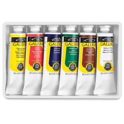 Winsor & Newton Galeria Flow Acrylics - Set of 6 colors, 60 ml tubes