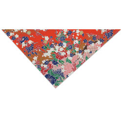 Aitoh Japanese Decorative Paper - Flowers, Black/White/Red/Purple, 21-1/2'' x 31-1/2''
