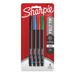 Sharpie Pens - Assorted Colors, Fine Point, Set of 4
