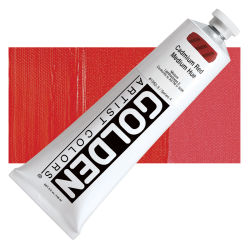 Golden Heavy Body Artist Acrylics - Cadmium Red Medium Hue, 5 oz Tube