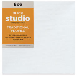 "Blick Studio Stretched Cotton Canvas - 6""x 6"", 3/4"" Traditional Profile"