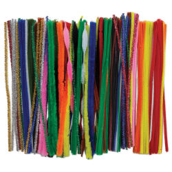 "PA Essentials Chenille Stem Super Pack - 12"", Assorted Colors, Package of 250"