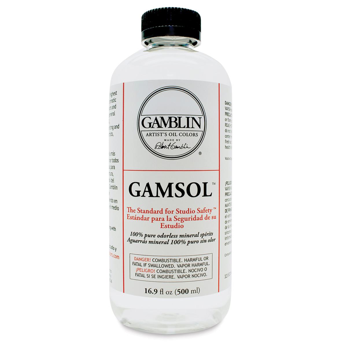 Gamblin Gamsol Odorless Mineral Spirits - 16.9 oz bottle