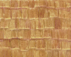 Plastruct Patterned Sheets, Wood Shake Shingle, 1:24 Scale