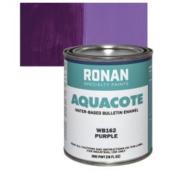 Ronan Aquacote Water-Based Acrylic Color - Purple, Pint