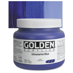 Golden Heavy Body Artist Acrylics - Ultramarine Blue, 32 oz Jar