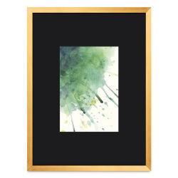 Blick Chelsea Metal Gallery Frame - Gold, 9'' x 12'', Artwork Size 5'' x 7''