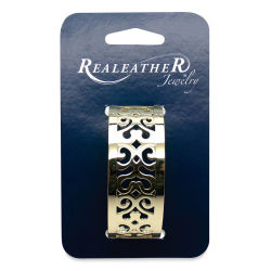 Realeather Filigree Bracelet - Gold Palermo, 1'' Wide