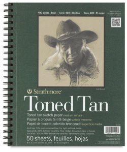 Toned Sketch Wirebound Journal, Warm Tan