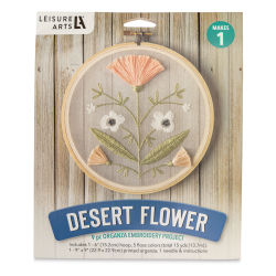 Leisure Arts Organza Embroidery Kit - Desert Flower (Front of packaging)
