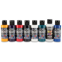 Createx Wicked Colors Airbrush Color - 2 oz, Set of 8, Sampler #2