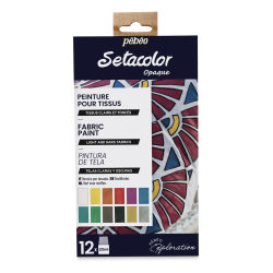 Pebeo Setacolor Fabric Paint - Shimmer, Assorted Colors, Set of 12