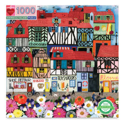 Eeboo Whimsical Village 1,000 Piece Puzzle Box