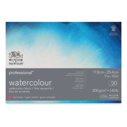 "Winsor & Newton Professional Watercolor Block - 7"" x 10"", Hot Press"