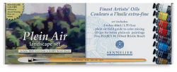 Sennelier Artists' Extra Fine Oil Paint Plein Air Landscape Set - Set of 8, 40 ml tubes