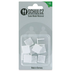 "Schulcz Scale Model Furniture - Square Tables, Pkg of 10, 1:50, 1/4"" (front of package)"