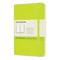 "Moleskine Classic Soft Cover Notebook - Light Green, Blank, 5-1/2"" x 3-1/2"""