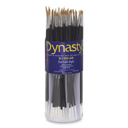 Dynasty Red Sable Brush Set - Round, Canister of 72