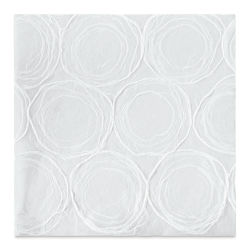 "Black Ink Thai Mulberry Whimzy Decorative Paper - White, 12"" x 12"""