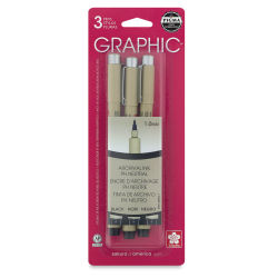 Sakura Pigma Micron Graphic Pens - Set of 3, 1 mm