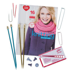 Red Heart Learn to Knit Kit Contents