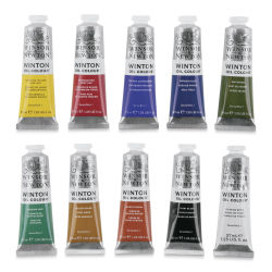Winsor & Newton Winton Oil Colors- Set of 10, 37 ml