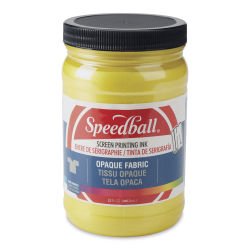 Speedball Opaque Iridescent Screen Printing Ink - Citrine, 32 oz