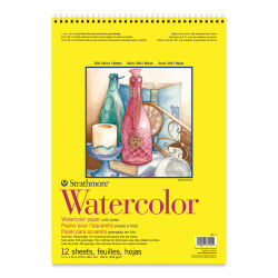 Strathmore 300 Series Student Watercolor Pad - 11'' x 15'', Cold Press, Spiral Bound, 12 Sheets