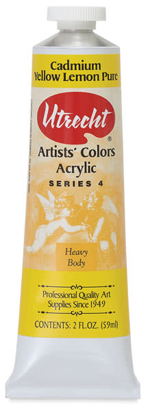 Artists' Acrylic Paint, Cadmium Yellow Lemon