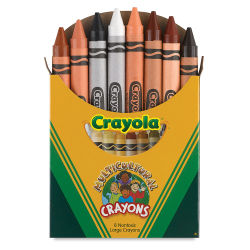 Large Multicultural Crayons