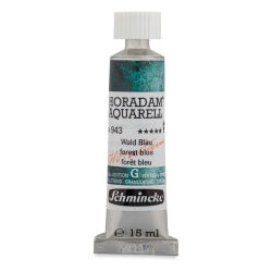 Schmincke Horadam Aquarell Artist Watercolor - Forest Blue, 15 ml, Tube with Swatch