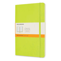 "Moleskine Classic Soft Cover Notebook - Light Green, Ruled, 8-1/4"" x 5"""