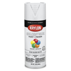 Krylon Colormaxx Spray Paint - White, Semi-Gloss, 12 oz